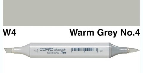 Warm Grey 4 Marker with double pointed rechargeable with indelible ink